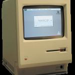 1984 Apple Macintosh 128k transparency