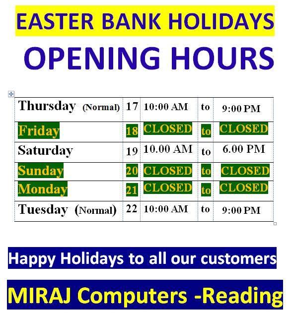 Miraj Easter opening