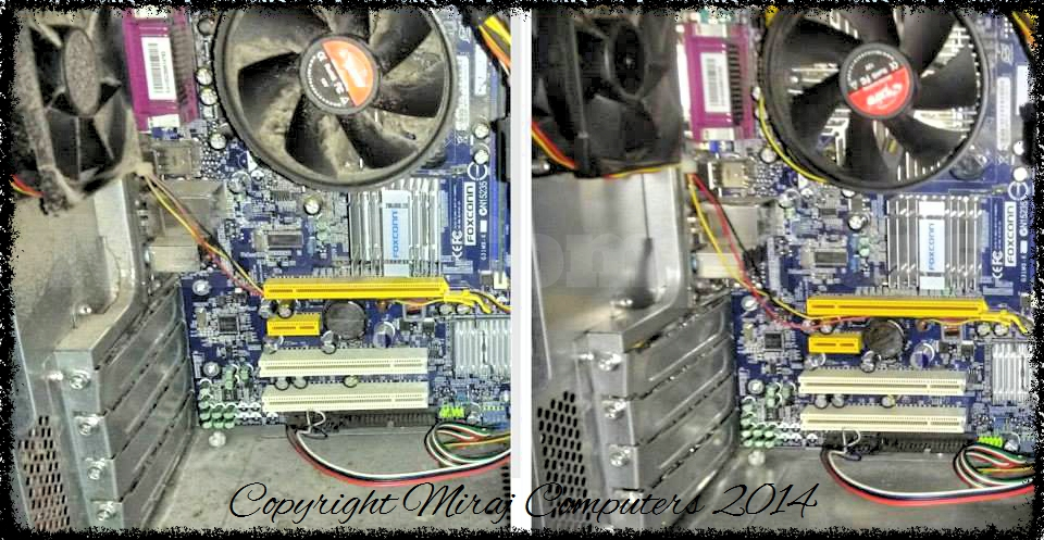 Dusty Desktop PC BEFORE and AFTER cleaning by MIRAJ Computers
