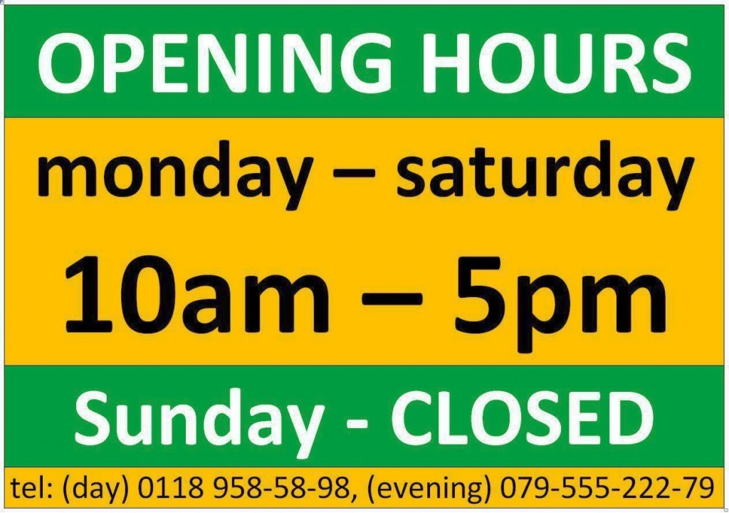 opening hours WEB Colours TEL